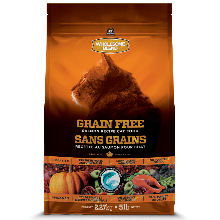 Wholesome Blend Cat Food L.I.D. Grain Free Salmon  Dry Cat Food - PetMax