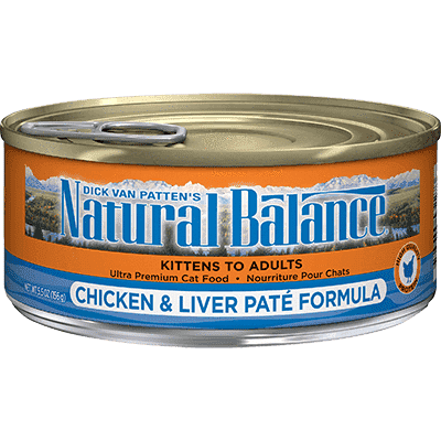 Natural Balance Canned Cat Food Chicken & Liver, Canned Cat Food, Natural Balance - PetMax Canada