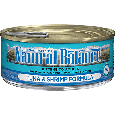Natural Balance Canned Cat Food Tuna With Shrimp, Canned Cat Food, Natural Balance - PetMax Canada