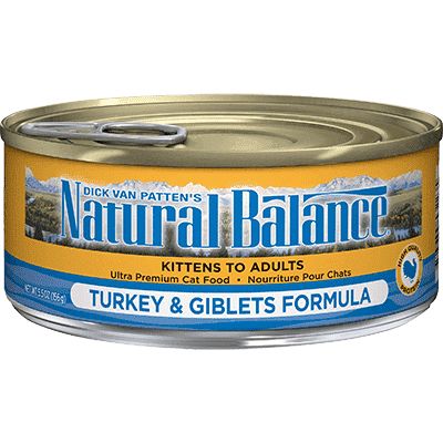 Natural Balance Canned Cat Food Turkey & Giblets, Canned Cat Food, Natural Balance - PetMax Canada