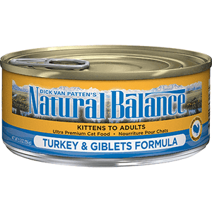 Natural Balance Canned Cat Food Turkey & Giblets  Canned Cat Food - PetMax