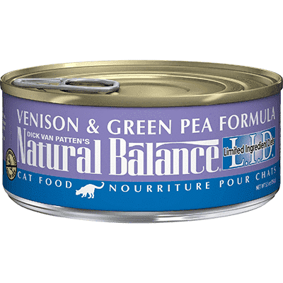 Natural Balance Canned Cat Food Venison & Green Pea  Canned Cat Food - PetMax