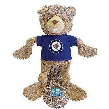 NHL Winnipeg Jets Plush Beaver Dog Toy, Dog Toys, Karsuh Activewear Inc. - PetMax Canada