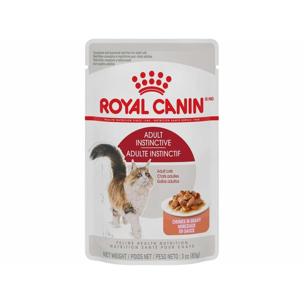 Royal Canin Cat Pouches Chunks In Gravy Adult Instinctive  Canned Cat Food - PetMax