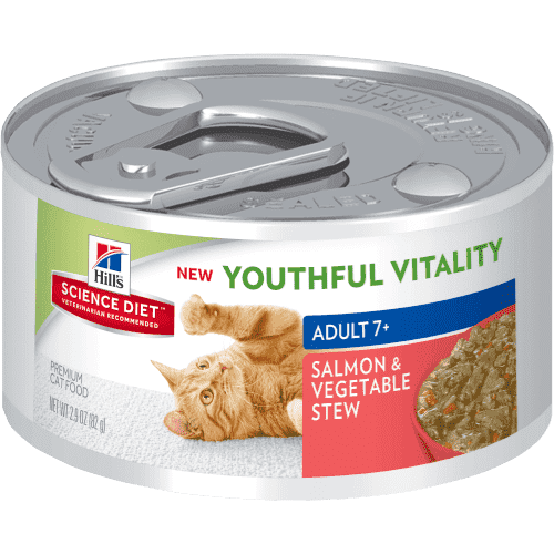 Science Diet Youthful Vitality Canned Cat Food Salmon & Vegetable  Canned Cat Food - PetMax