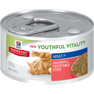 Science Diet Youthful Vitality Canned Cat Food Salmon & Vegetable | Canned Cat Food -  pet-max.myshopify.com