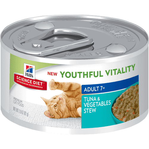 Science Diet Youthful Vitality Canned Cat Food Tuna & Vegetable  Canned Cat Food - PetMax