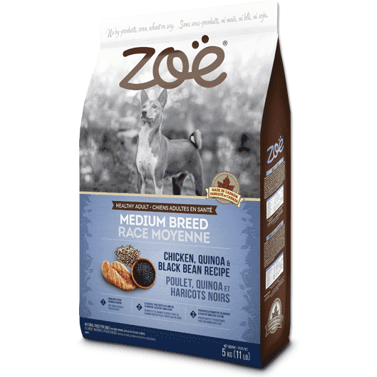Zoe Dog Adult Medium Breed Chicken, Quinoa & Bean, Dog Food, Rolf C Hagen Inc. - PetMax Canada