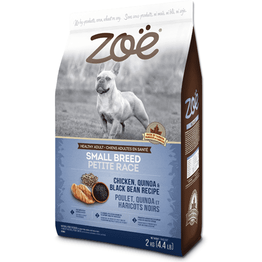 Zoe Dog Adult Small Breed Chicken, Quinoa & Bean, Dog Food, Rolf C Hagen Inc. - PetMax Canada