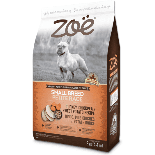 Zoe Dog Adult Small Breed Turkey, Chickpea, Potato, Dog Food, Rolf C Hagen Inc. - PetMax Canada