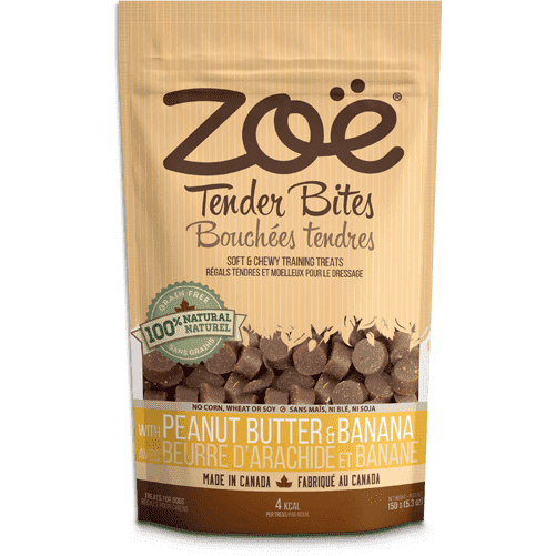 Zoe Dog Tender Bits Peanut Butter & Banana, Dog Treats, Rolf C Hagen Inc. - PetMax Canada
