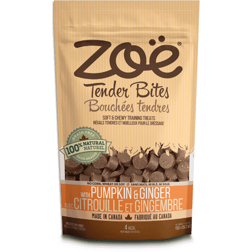 Zoe Dog Tender Bits Pumpkin & Ginger, Dog Treats, Rolf C Hagen Inc. - PetMax Canada