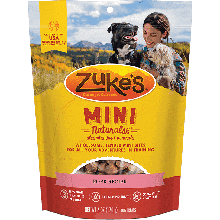 Zukes Dog Treats Mini Naturals Pork  Dog Treats - PetMax