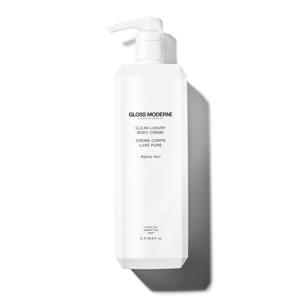 Clean Luxury Body Crème (Deluxe Liter Size) - Alpine Vert