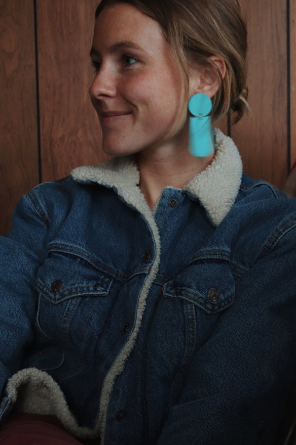 Nat Makes Things | Leather Earrings