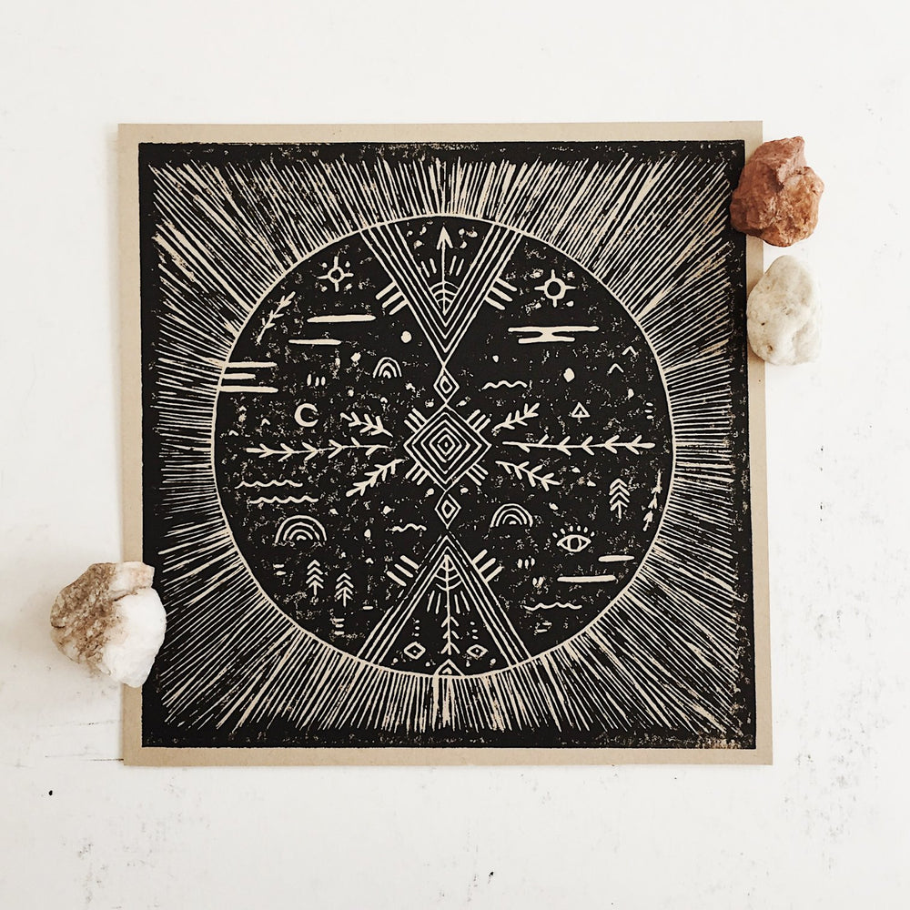 Land and She | Celestial Sphere Print
