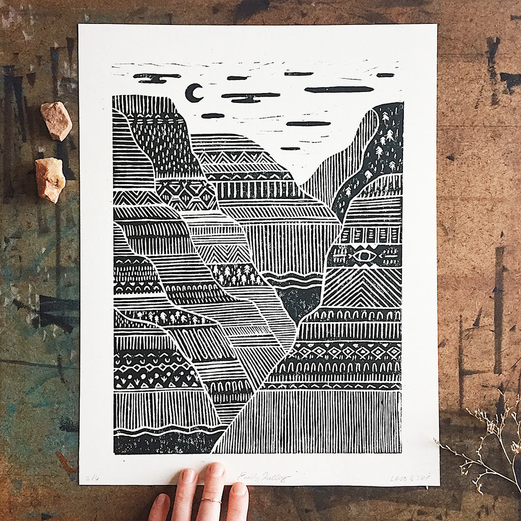 Land and She | Canyons Print