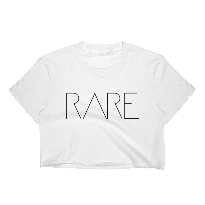 4 Letter Tees | Rare Crop Top White