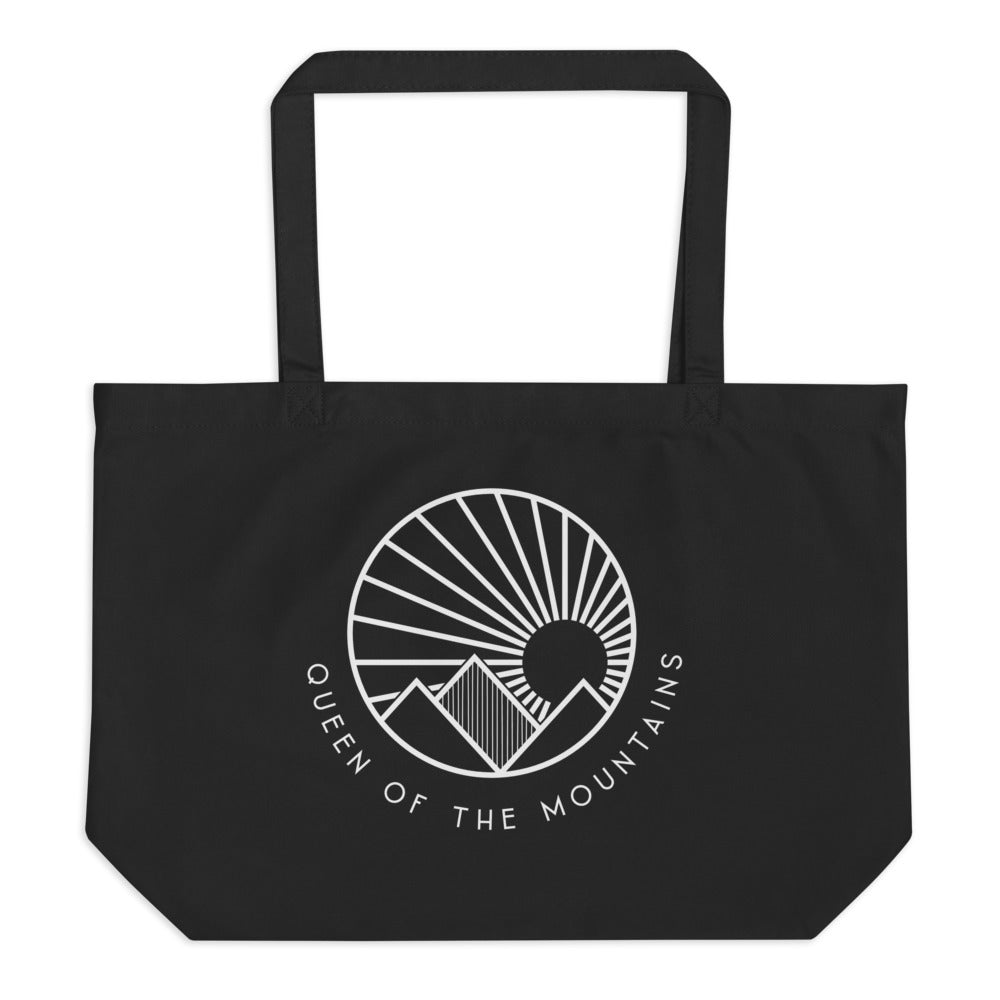 Queen Of The Mountains | Large Organic Tote Bag Black
