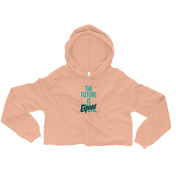 Women Belong in All Places | Crop Hoodie