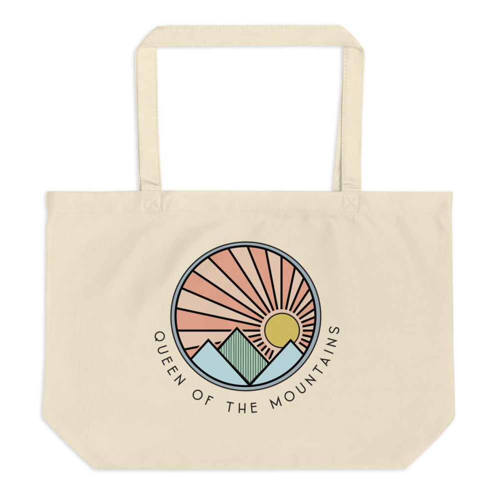 Queen Of The Mountains | Large Organic Tote Bag