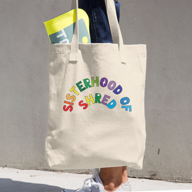 Sisterhood of Shred | Pride Cotton Tote Bag