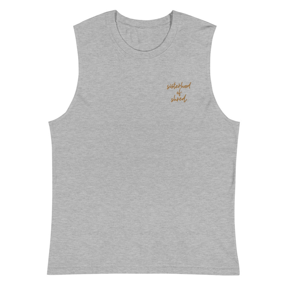 Sisterhood Of Shred | Embroidered Muscle Tank