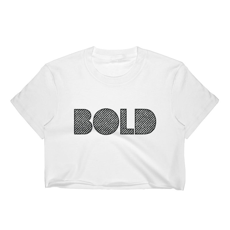 4 Letter Tees | Bold Crop White