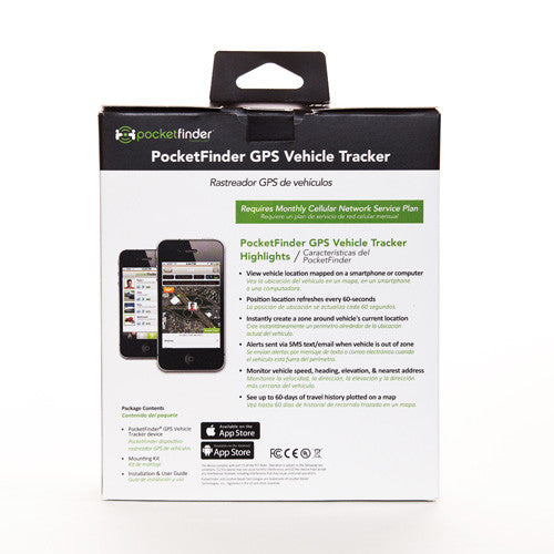 POCKETFINDER® 3G GPS VEHICLE TRACKER  FOR LOCATING, TRACKING, & RECOVERING VEHICLES