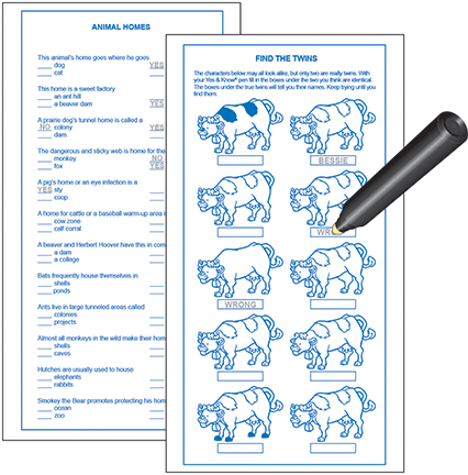 Invisible Ink Activity Book