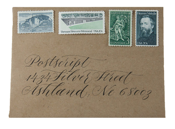Vintage Postage: Moody Green Blues