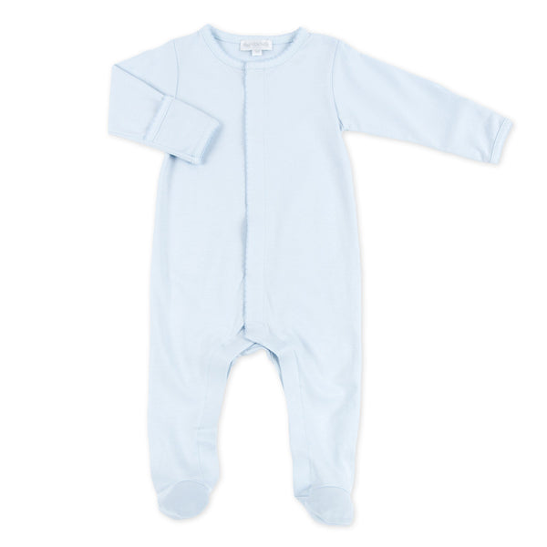 Magnolia Baby Essentials Blue Footie Sleepsuits