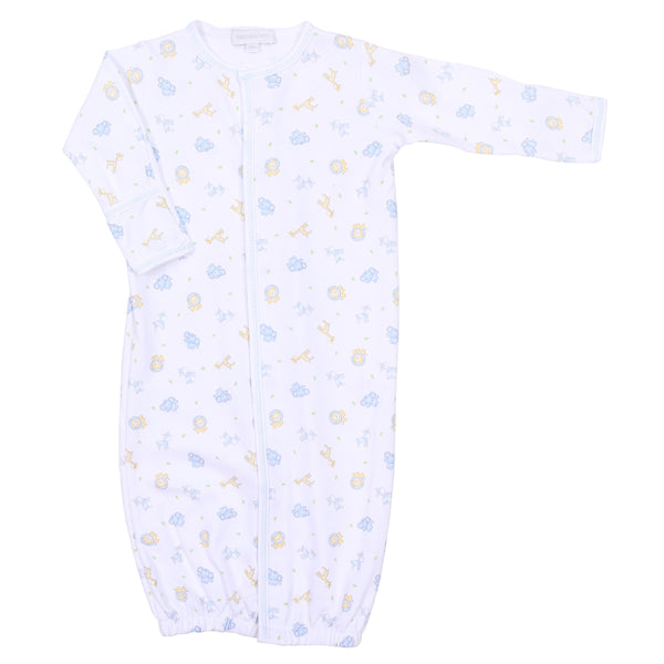 Safari Pals Blue Embroidered Converter Gown