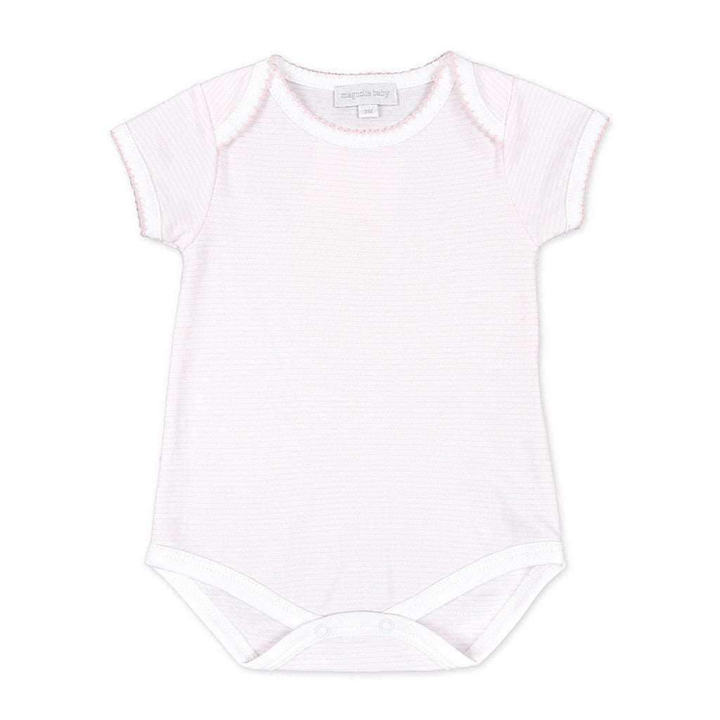 Magnolia Baby Essentials Pink Mini Stripe Bodysuit