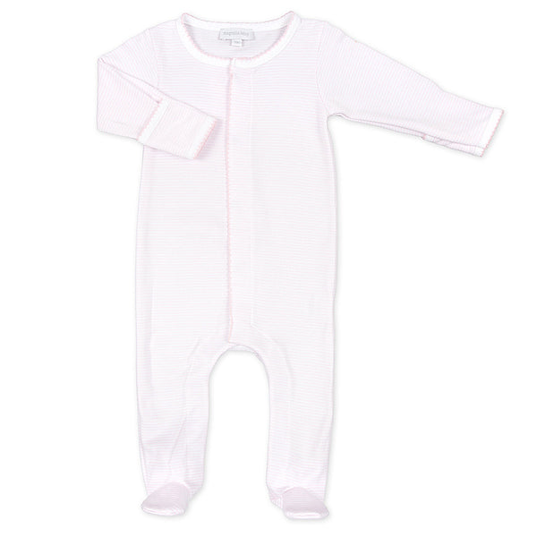 Magnolia Baby Essentials Pink Mini Stripe Footie