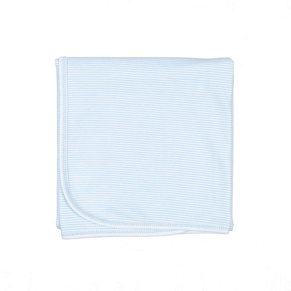 Magnolia Baby Essentials Blue Mini Stripe Blanket