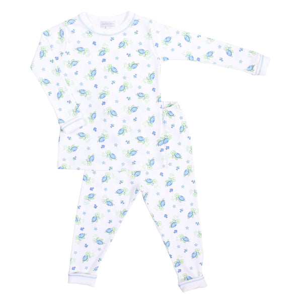 Blue Little Turtles Long Pajamas