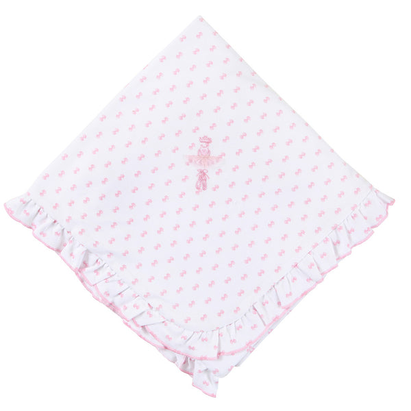 Magnolia Baby Austyn the Ballerina Ruffled Receiving Blanket