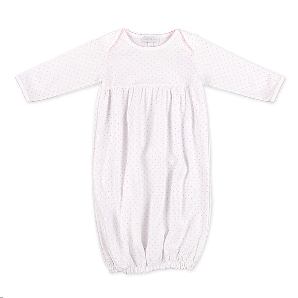 Magnolia Baby Essentials Pink Mini Dots Gown