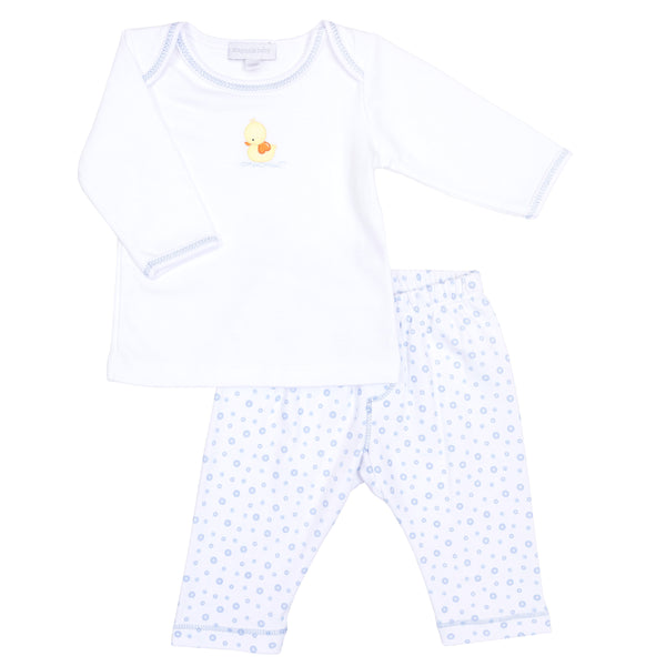 Blue Bubbles Embroidered Pant Set