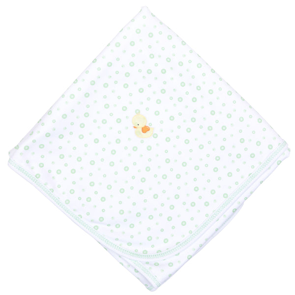 Unisex Bubbles Embroidered Receiving Blanket