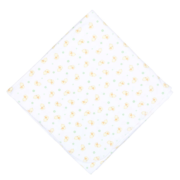 Unisex Bubbles Print Swaddle Blanket
