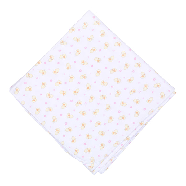 Pink Bubbles Print Swaddle Blanket