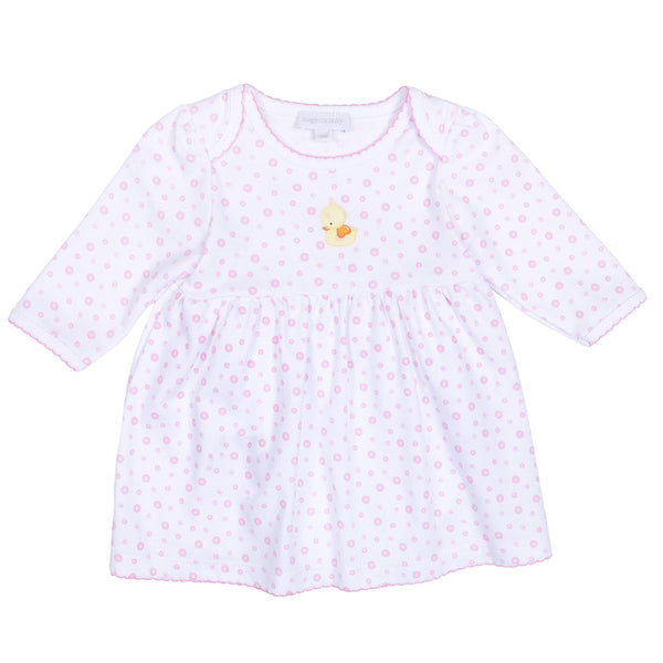 Pink Bubbles Embroidered Dress Set