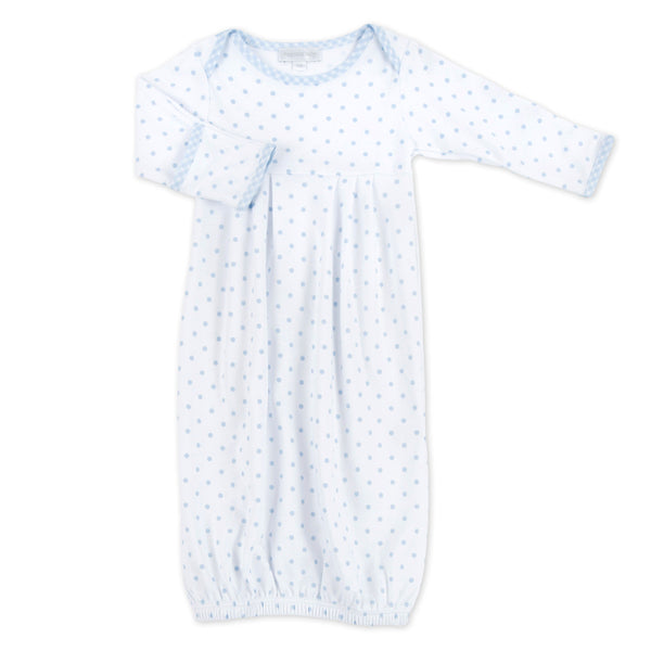 Magnolia Baby Essentials Blue Gingham Dots Gown