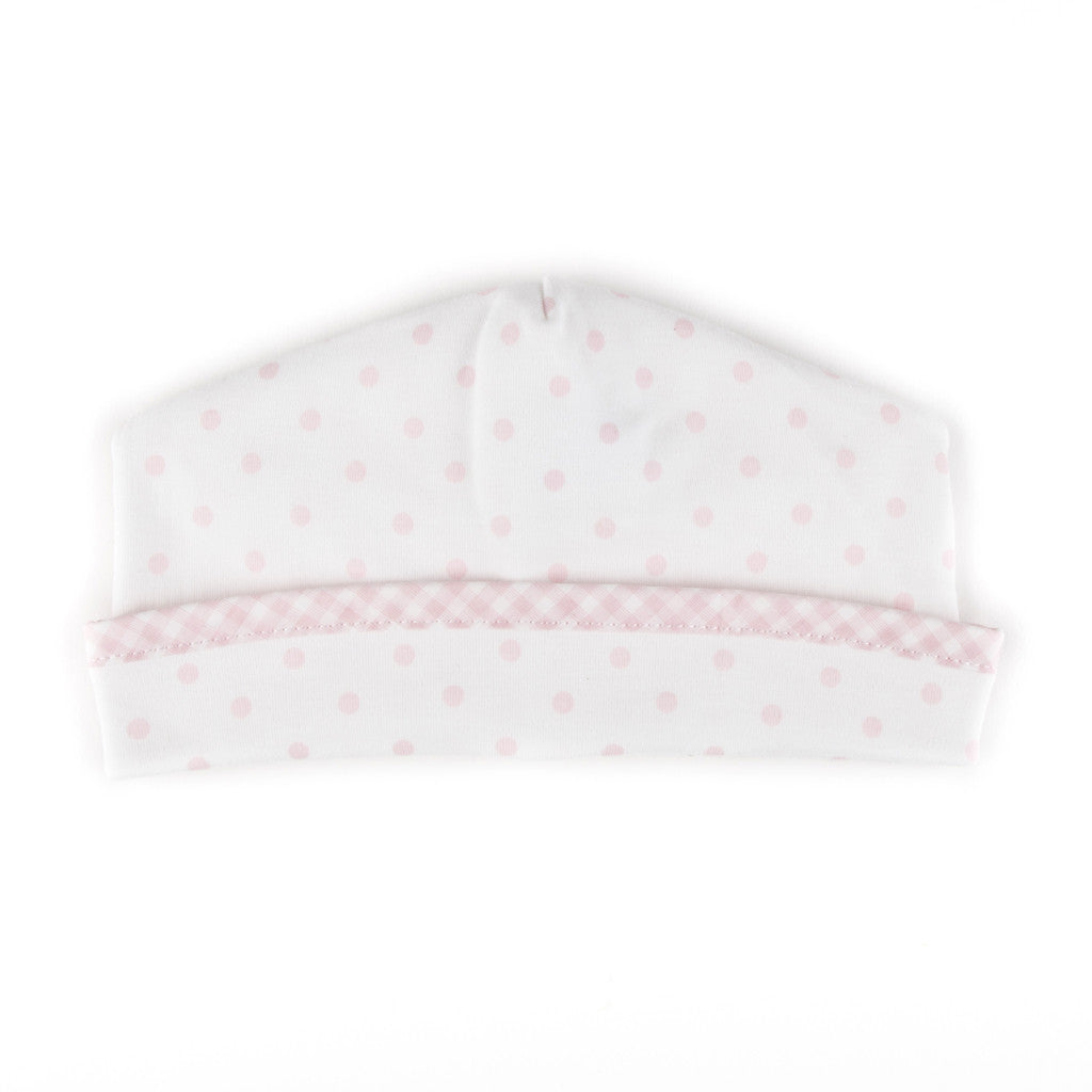Magnolia Baby Essentials Pink Gingham Dots Hat