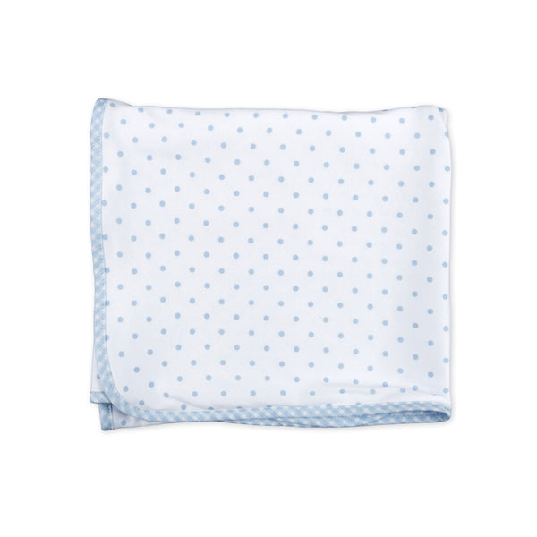 Magnolia Baby Essentials Blue Gingham Dots Blanket