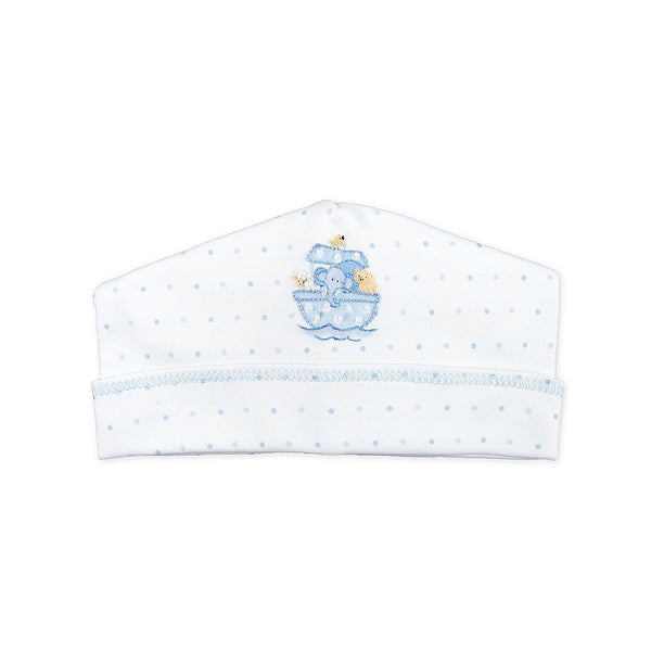 Magnolia Baby Essentials Noah's Friends Blue Embroidered Hat