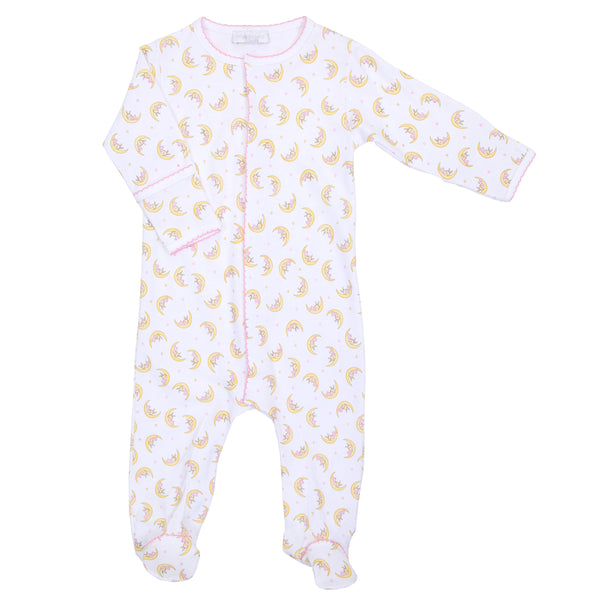 Pink Sleepy Bunny Print Footie