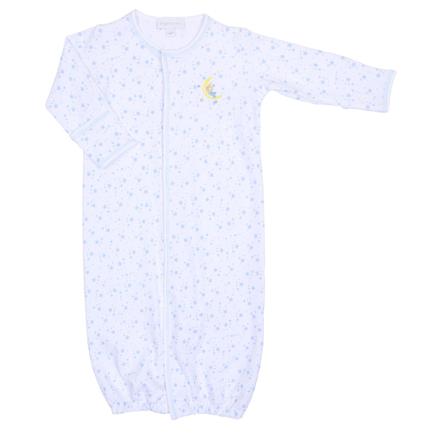 Blue Sleepy Bunny Embroidered Converter Gown